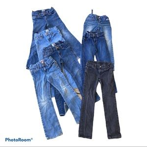 Bundle of 7 Pairs Girls Jeans Size 6